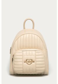 Kremowy plecak Love Moschino gładki