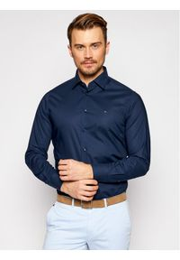 Tommy Hilfiger Tailored Koszula Plain MW0MW16490 Granatowy Regular Fit. Kolor: niebieski