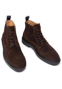 Brązowe buty zimowe GANT z cholewką