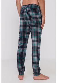 United Colors of Benetton - Spodnie piżamowe. Kolor: zielony. Materiał: bawełna, dzianina
