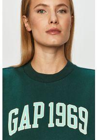 Zielona bluza GAP bez kaptura, na co dzień