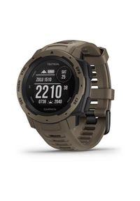 Brązowy zegarek GARMIN sportowy, smartwatch