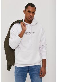 Cross Jeans - Bluza bawełniana. Okazja: na co dzień. Kolor: biały. Materiał: bawełna. Wzór: nadruk. Styl: casual