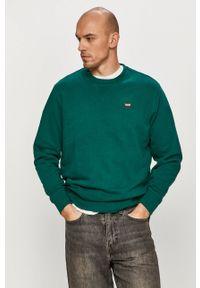 Levi's® - Levi's - Bluza bawełniana. Okazja: na spotkanie biznesowe, na co dzień. Kolor: zielony. Materiał: bawełna. Wzór: gładki. Styl: casual, biznesowy