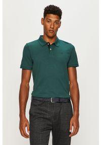 Zielona koszulka polo Tom Tailor Denim krótka, casualowa, polo, na co dzień