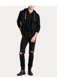 Ralph Lauren - RALPH LAUREN - Bluza z kapturem. Typ kołnierza: kaptur. Kolor: czarny. Materiał: poliester, dresówka, bawełna, materiał. Długość rękawa: długi rękaw. Długość: długie. Wzór: haft. Styl: elegancki
