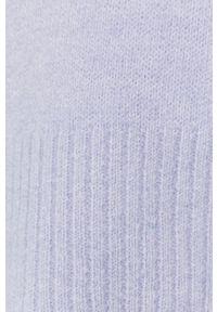 Fioletowy sweter Answear Lab z okrągłym kołnierzem, wakacyjny