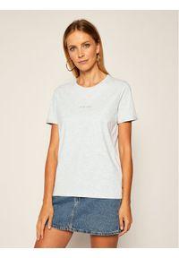 Calvin Klein T-Shirt 3D Metallic Logo K20K202156 Szary Regular Fit. Kolor: szary
