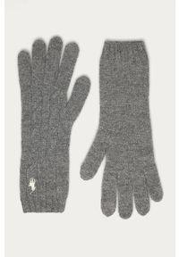 Szare rękawiczki Polo Ralph Lauren melanż