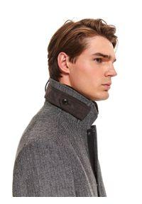 Szary płaszcz TOP SECRET klasyczny