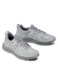 Szare buty do biegania Asics z cholewką, na płaskiej podeszwie