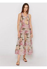 Sukienka letnia casualowa, na co dzień, prosta, w kolorowe wzory