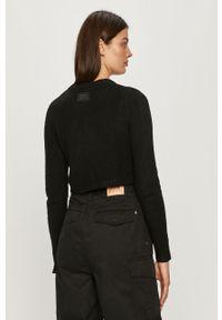 Czarny sweter rozpinany Pepe Jeans na co dzień, z długim rękawem