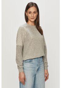 Szara bluza Jacqueline de Yong na co dzień, długa