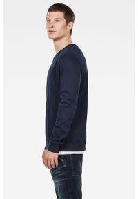 Niebieska bluza nierozpinana G-Star RAW bez kaptura
