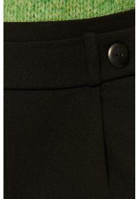 Czarne spodnie materiałowe Jacqueline de Yong z podwyższonym stanem