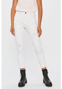 Biały jeansy loose fit Answear Lab w kolorowe wzory, wakacyjny