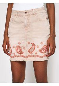 Różowa spódnica jeansowa Desigual