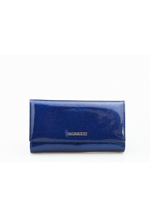 Niebieski portfel Moretti