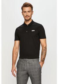 Czarna koszulka polo Hugo casualowa, na co dzień, polo, krótka