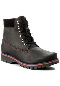 Czarne buty zimowe Kornecki z cholewką