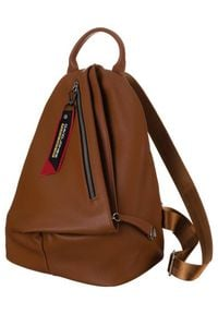 DAVID JONES - Plecak damski koniakowy David Jones CM6008 COGNAC. Materiał: skóra ekologiczna