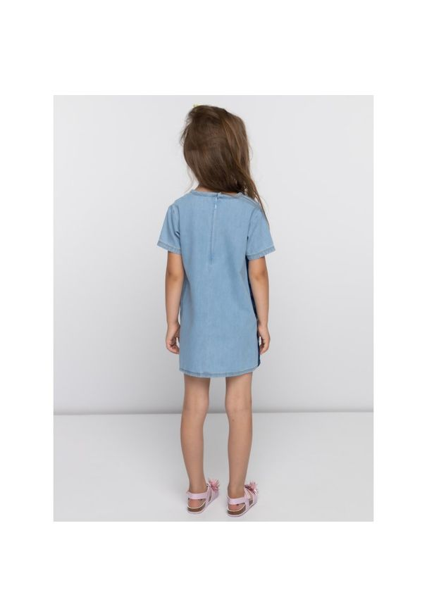 Niebieska sukienka Calvin Klein Jeans na co dzień, casualowa, prosta
