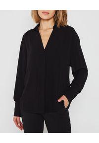 MARLU - Czarna koszula z szerokimi rękawami. Okazja: na co dzień. Kolor: czarny. Materiał: bawełna. Długość: długie. Styl: casual