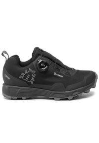 Czarne buty do biegania Icebug Gore-Tex, na co dzień, z cholewką