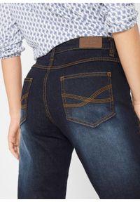 Dżinsy wyszczuplające ze stretchem BOOTCUT, bestsellery bonprix ciemnoniebieski. Kolor: niebieski