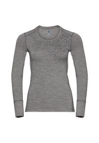 Bielizna Odlo Merino Shirt W 550641. Materiał: materiał, wełna. Długość rękawa: długi rękaw. Długość: długie