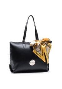 Czarna torebka klasyczna Blumarine skórzana, z aplikacjami