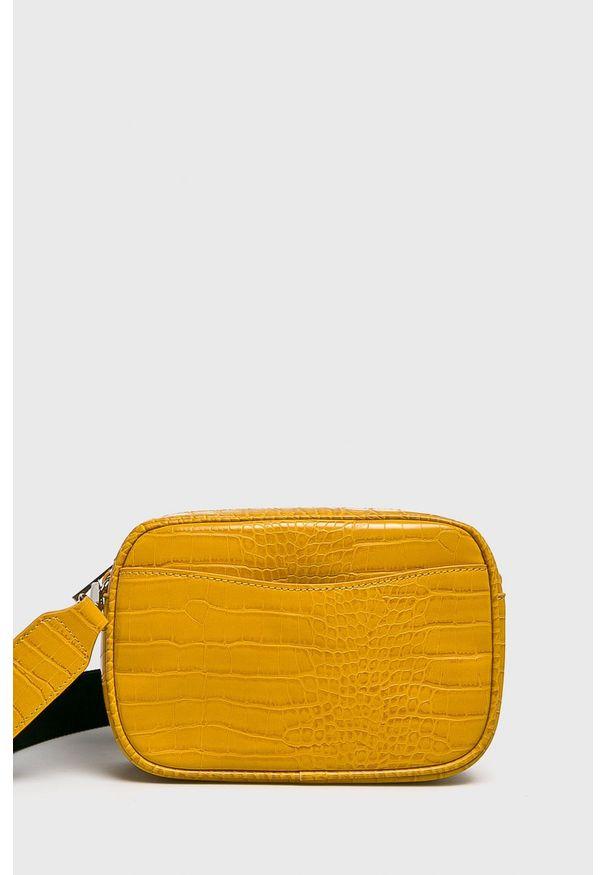 Żółta listonoszka Pieces na ramię, mała