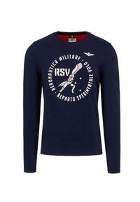 Aeronautica Militare - T-shirt AERONAUTICA MILITARE. Materiał: prążkowany, bawełna. Długość rękawa: długi rękaw. Długość: długie. Wzór: moro, nadruk. Styl: militarny