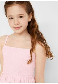 Długa sukienka dziewczęca bonprix bladoróżowy. Kolor: różowy. Długość: maxi #3