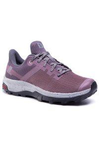Fioletowe buty trekkingowe salomon