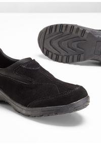 Czarne buty sportowe bonprix z cholewką, bez zapięcia