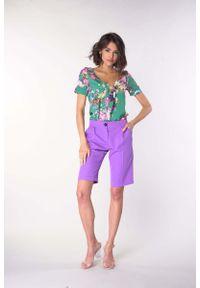 Fioletowe spodnie z wysokim stanem Nommo