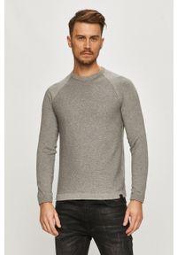 Only & Sons - Sweter. Okazja: na co dzień. Kolor: szary. Długość rękawa: raglanowy rękaw. Styl: casual
