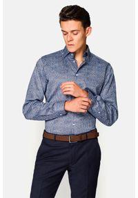 Lancerto - Koszula Mixkolor z Nadrukiem Wilma. Materiał: bawełna, tkanina, jeans. Wzór: nadruk