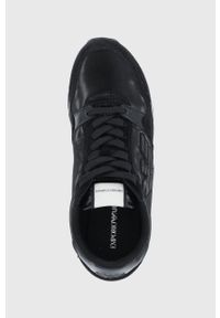 Emporio Armani - Buty. Nosek buta: okrągły. Zapięcie: sznurówki. Kolor: czarny. Materiał: guma