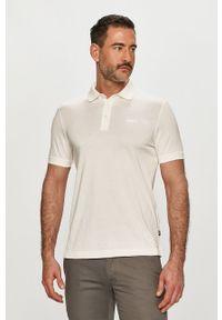 Biała koszulka polo JOOP! casualowa, krótka