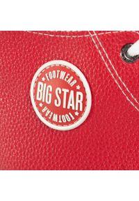 Big-Star - Trampki BIG STAR - GG274014 Red. Okazja: na spacer, na co dzień. Kolor: czerwony. Materiał: skóra ekologiczna, guma, materiał. Szerokość cholewki: normalna. Obcas: na płaskiej podeszwie. Styl: casual