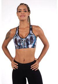 Czarny biustonosz sportowy Dorina z odpinanymi ramiączkami