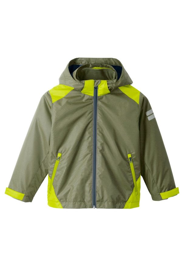 Zielona kurtka bonprix z kapturem, na co dzień