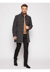 Szary płaszcz przejściowy Pierre Cardin
