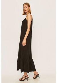 Czarna sukienka ANSWEAR na ramiączkach, wakacyjna, maxi