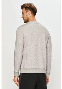Szara bluza nierozpinana Tommy Sport bez kaptura, sportowa, z nadrukiem, na co dzień