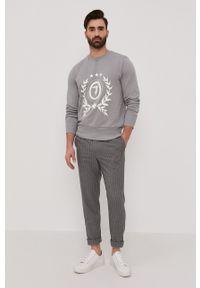 Trussardi Jeans - Trussardi - Bluza. Okazja: na co dzień. Kolor: szary. Wzór: nadruk. Styl: casual