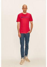 columbia - Columbia - T-shirt. Okazja: na co dzień. Kolor: różowy. Materiał: dzianina. Wzór: nadruk. Styl: casual